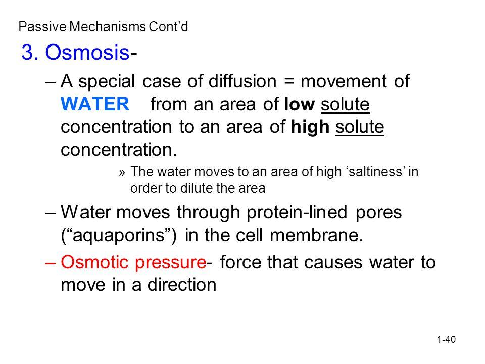 1-40 Passive Mechanisms Cont'd 3.