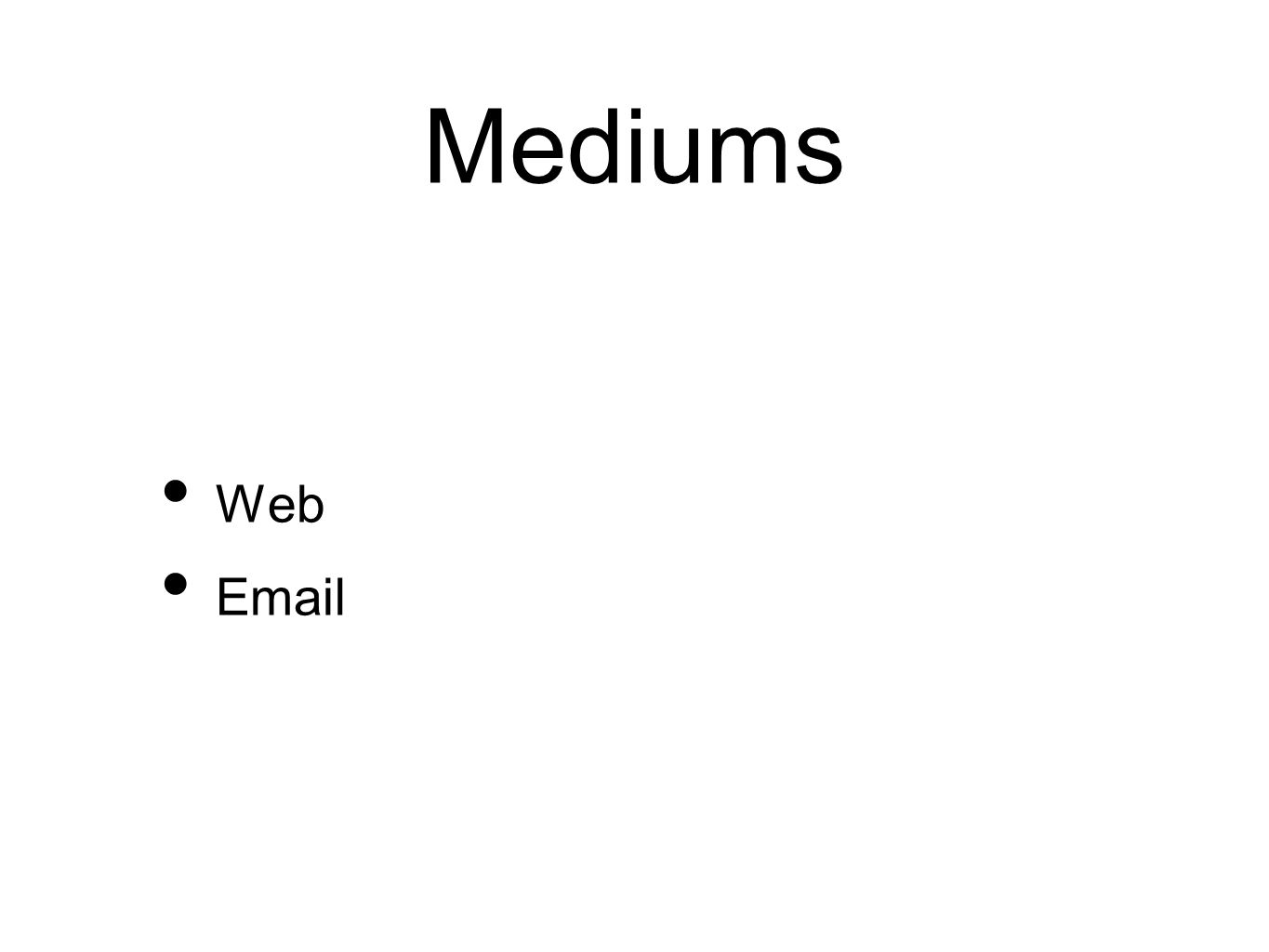 Mediums Web Email