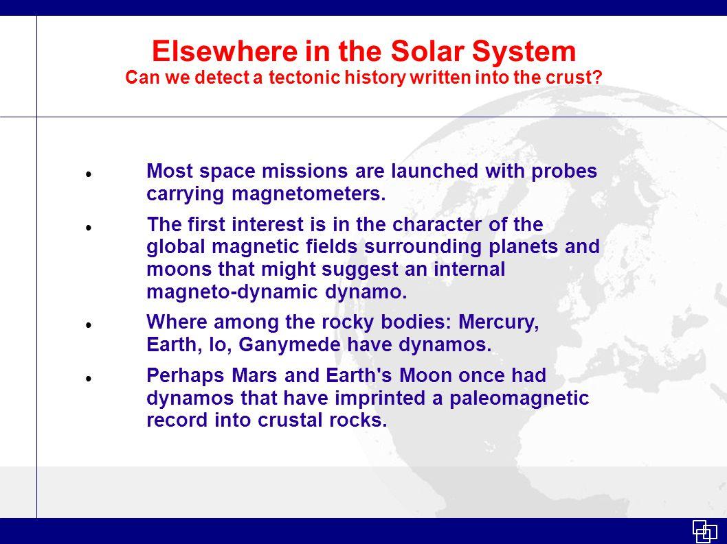 Mars Magnetic Anomaly Reveals tectonic history? Mars Global Surveyor MissionGlobal Surveyor