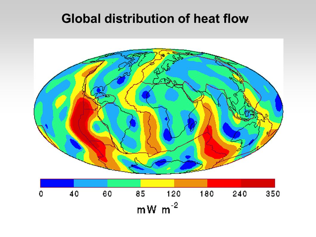 Global distribution of heat flow
