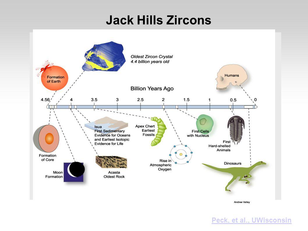 Jack Hills Zircons Peck, et al., UWisconsin