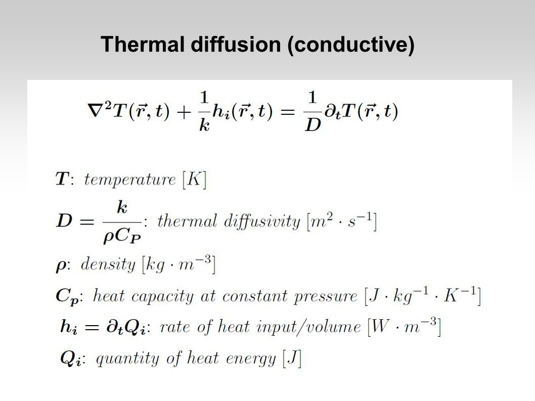 Thermally driven mantle convection  The contribution of diffusive cooling of the mantle is insignificant in comparison to convective heat transport through the mantle.
