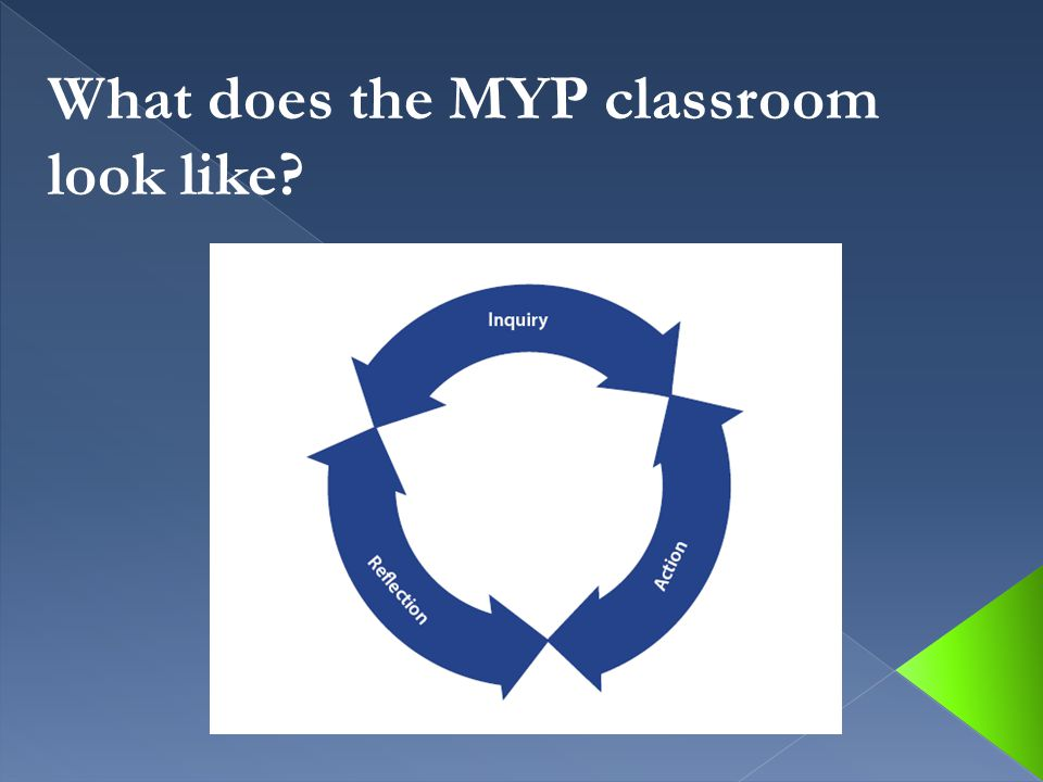 What does the MYP classroom look like?