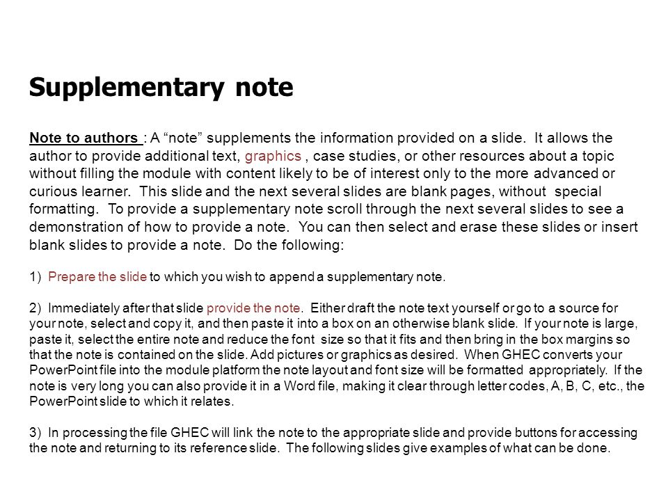 Page 23 Further readings & other resources Note to authors: Provide a listing, briefly annotated if useful, of additional resources relevant to the module's topic.