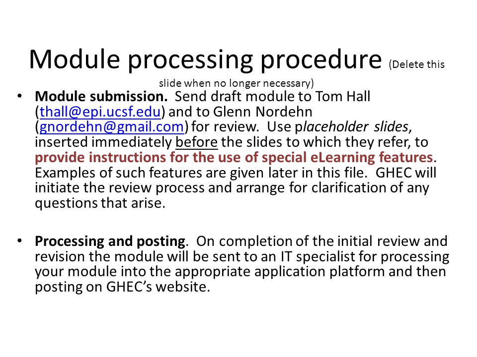 Module overview (Delete this slide when no longer necessary) Formatting.