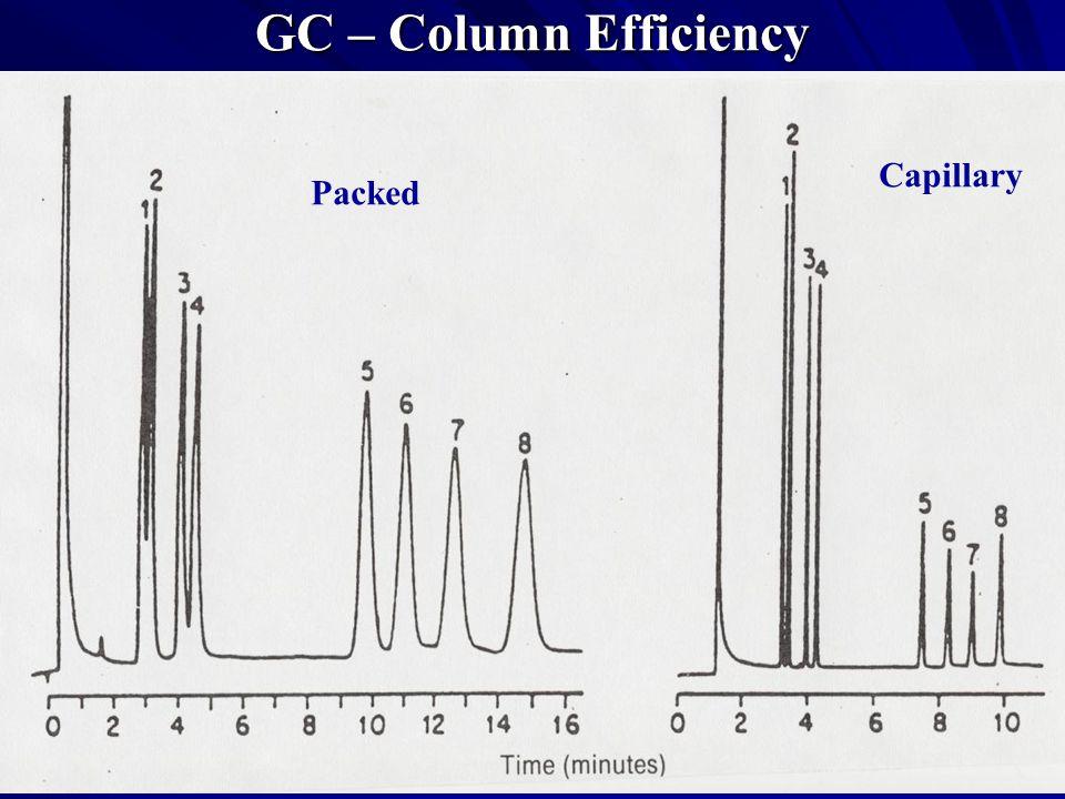 GC – Column Efficiency Packed Capillary