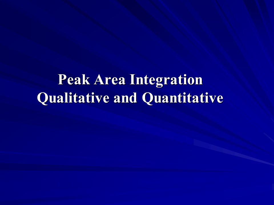 Peak Area Integration Qualitative and Quantitative