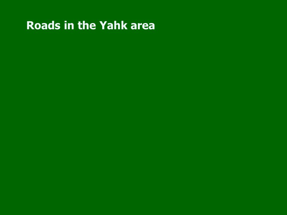Roads in the Yahk area