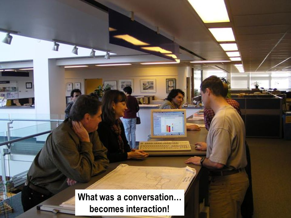 What was a conversation… becomes interaction!