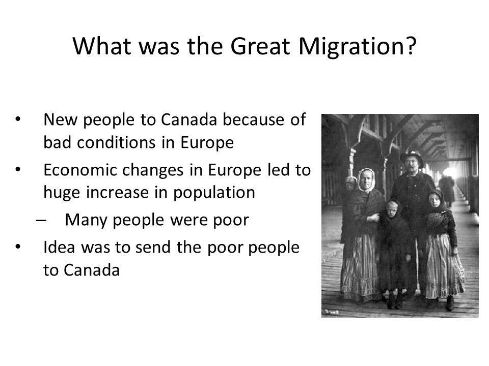 What was the Great Migration.