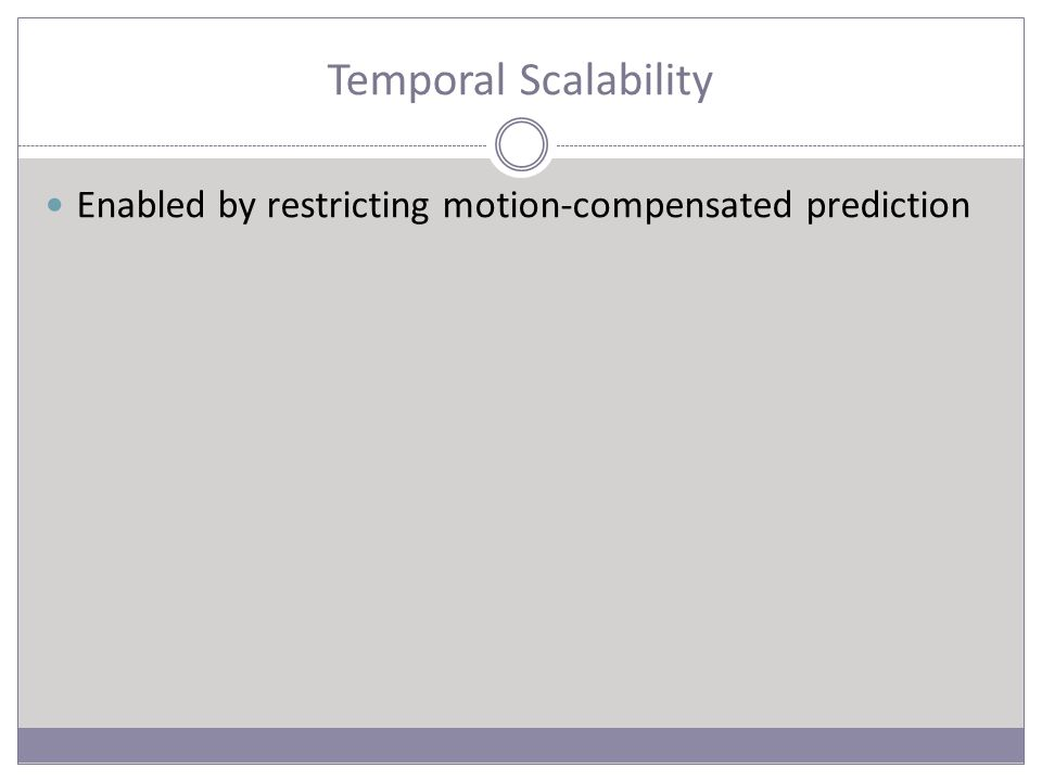 Temporal Scalability Enabled by restricting motion-compensated prediction