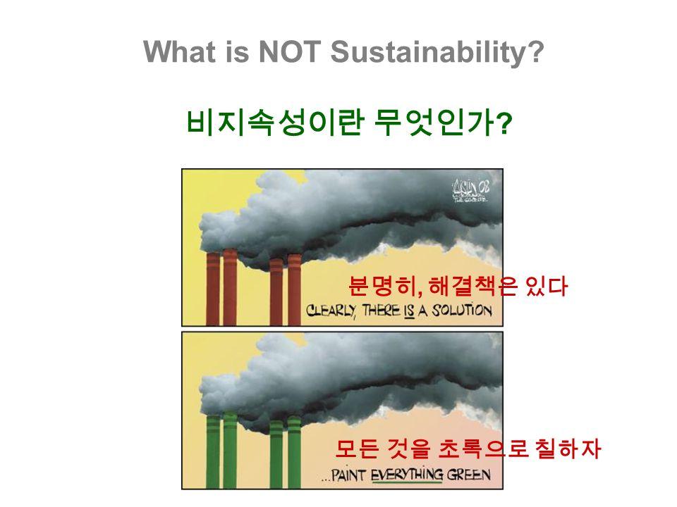 What is NOT Sustainability 비지속성이란 무엇인가 분명히, 해결책은 있다 모든 것을 초록으로 칠하자