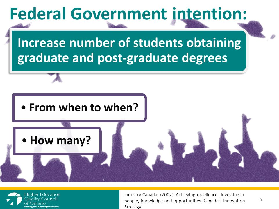 Federal Government intention: 5 Informing the Future of Higher Education Industry Canada.