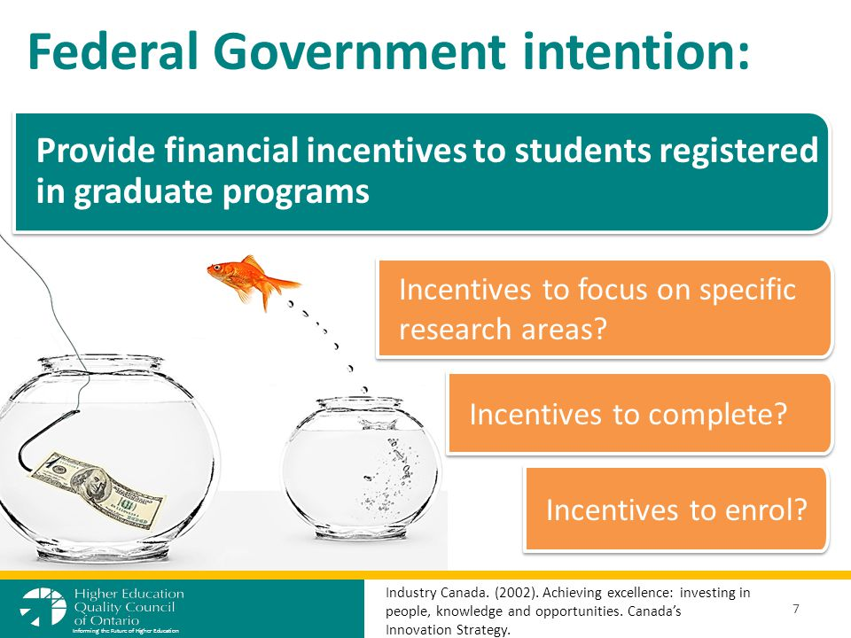 Federal Government intention: 7 Informing the Future of Higher Education Industry Canada.