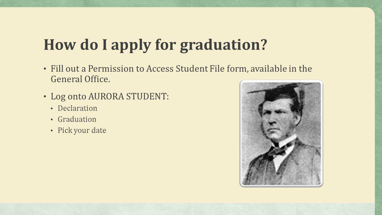 How do I apply for graduation.