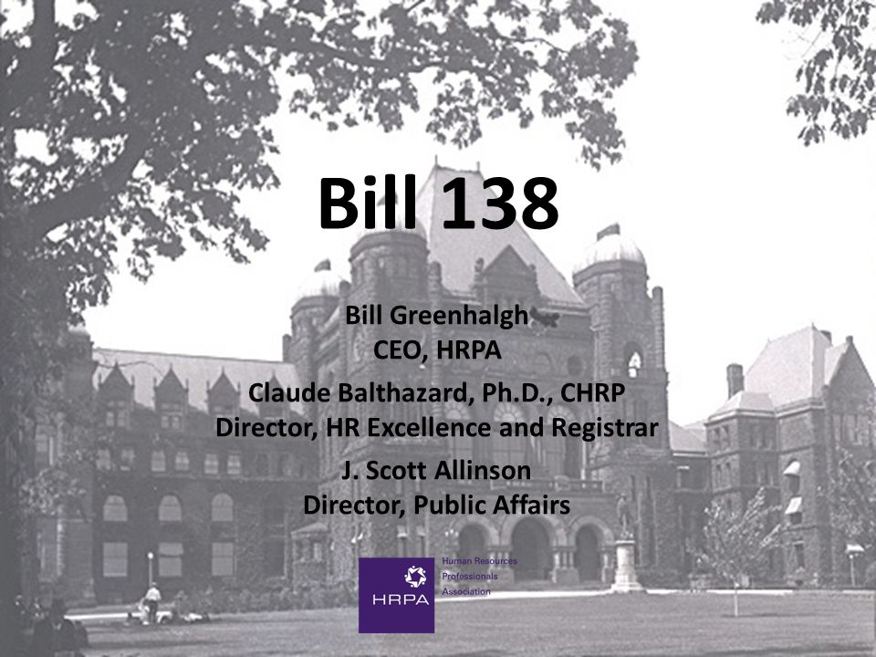 Bill 138 A Public Act is the Only Way Becoming a Tier 1 profession would have many benefits for members of the Association (and the public) The only way of moving up to a Tier 1 profession is to get a public act We simply cannot get there with our current Act