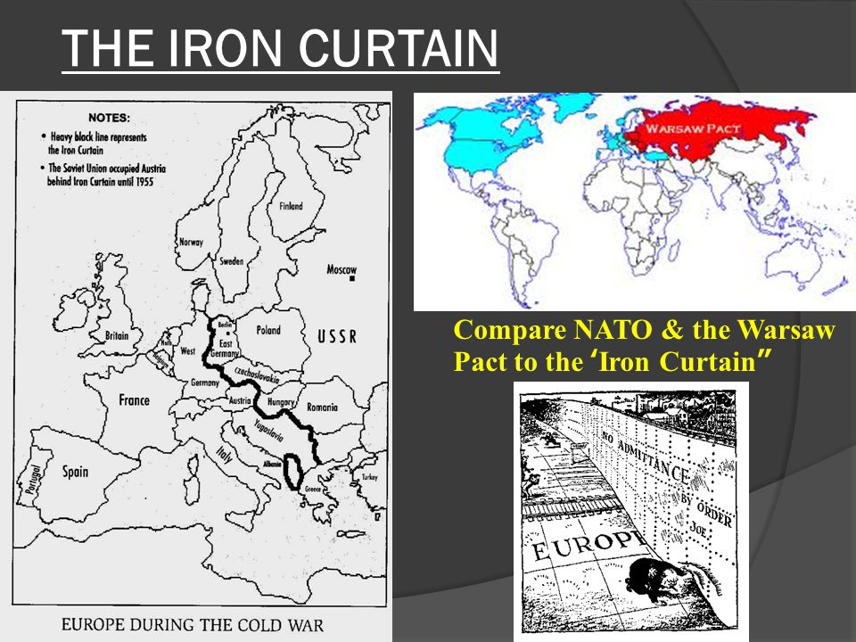 THE IRON CURTAIN Compare NATO & the Warsaw Pact to the 'Iron Curtain""