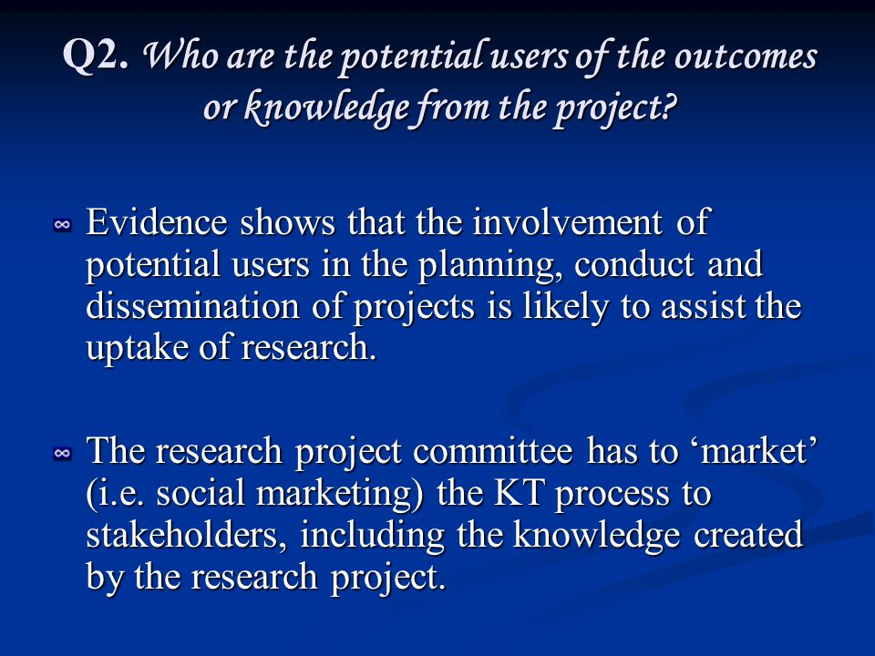 Q3.How does this project relate to other current research work or trends in policy and practice.