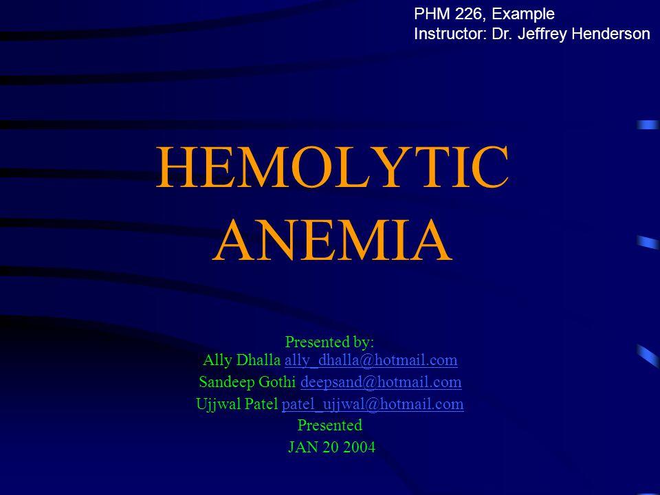 What is hemolytic anemia.