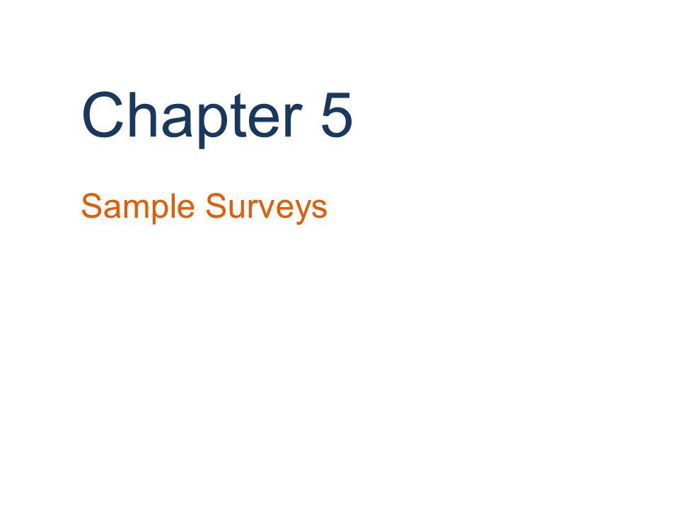 Chapter 5 Sample Surveys