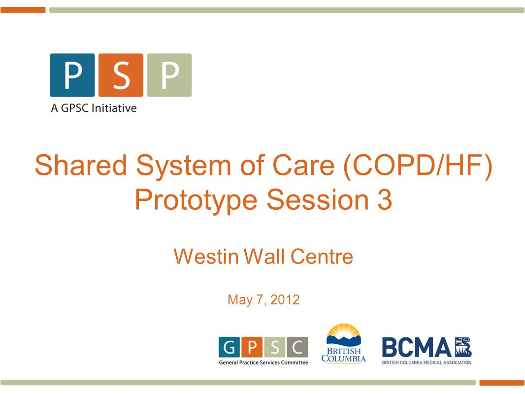 2 To collaborate to create a shared system to improve the quality of care and experience for patients at risk for, and living with, COPD and/or Heart Failure (HF) Aim – Why are we here?