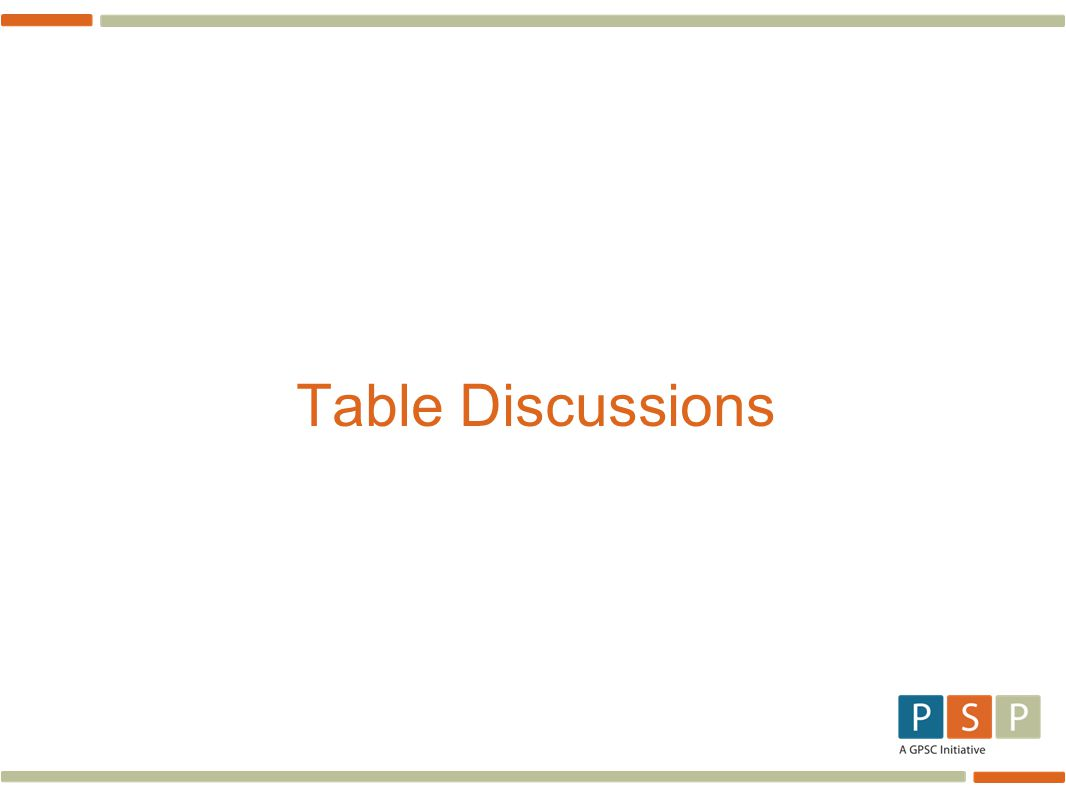 Table Discussions