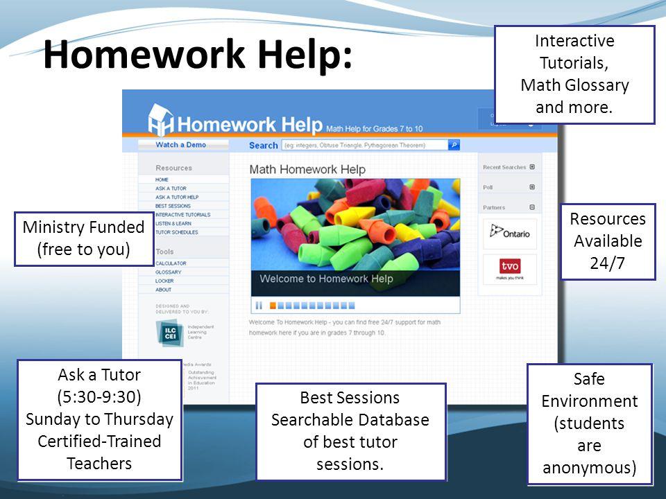 Tour of Homework Help