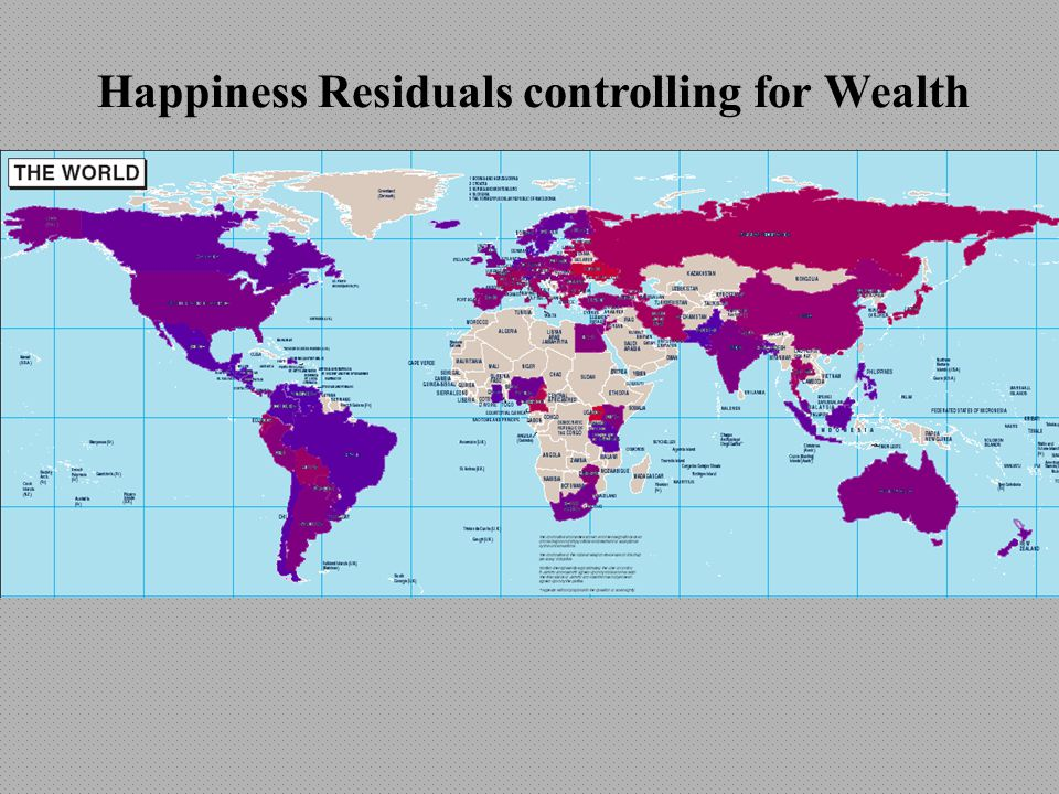Happiness Residuals controlling for Wealth