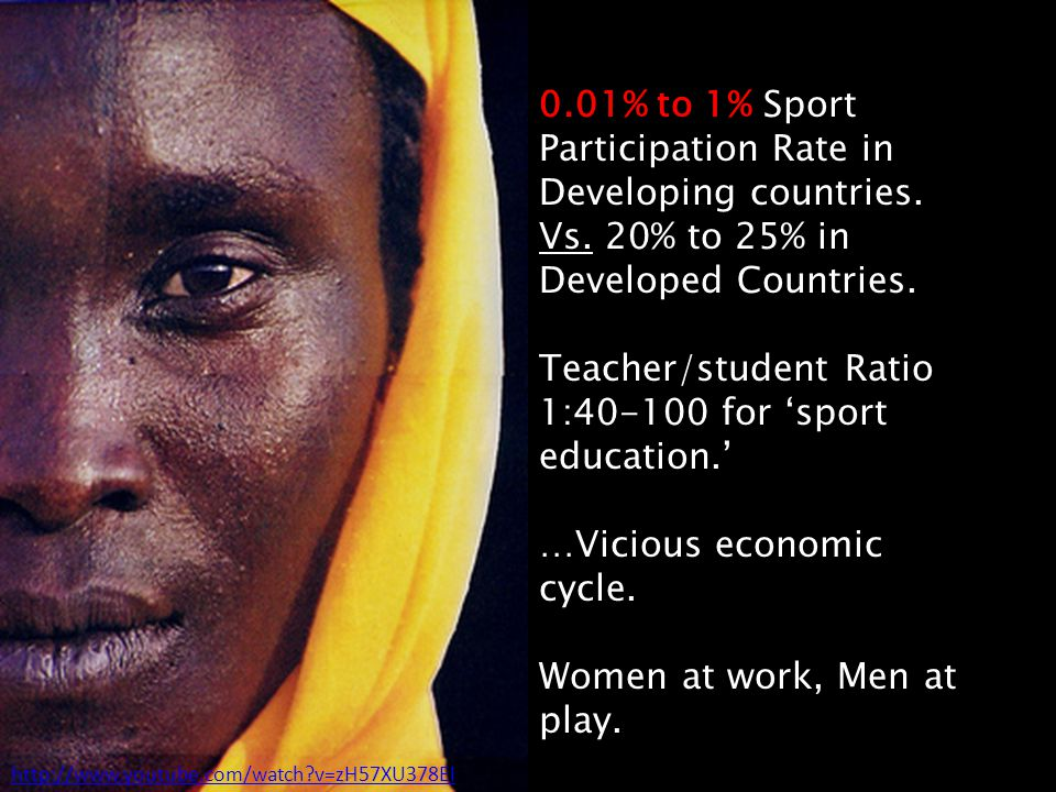 0.01% to 1% Sport Participation Rate in Developing countries.