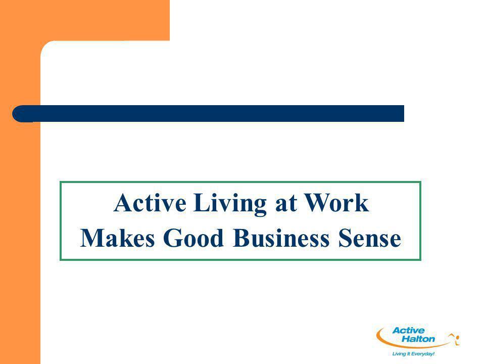 Active Living at Work Makes Good Business Sense