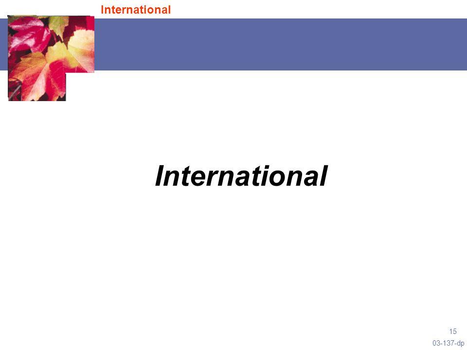 03-137-dp 15 International