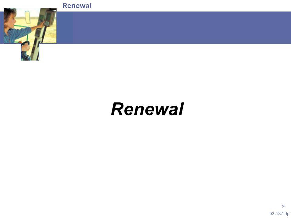 03-137-dp 9 Renewal