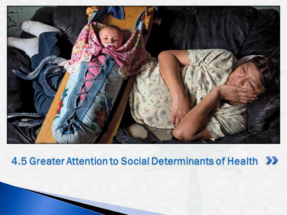 30 4.5 Greater Attention to Social Determinants of Health
