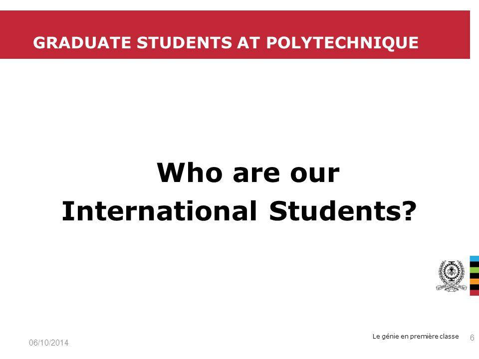 Le génie en première classe 06/10/2014 17 QUESTION 1 - WHAT IS YOUR PRIMARY MOTIVATION FOR COMPLETING A PH.D.?