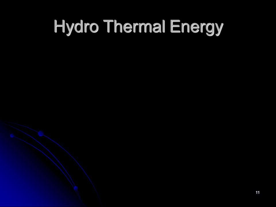 11 Hydro Thermal Energy