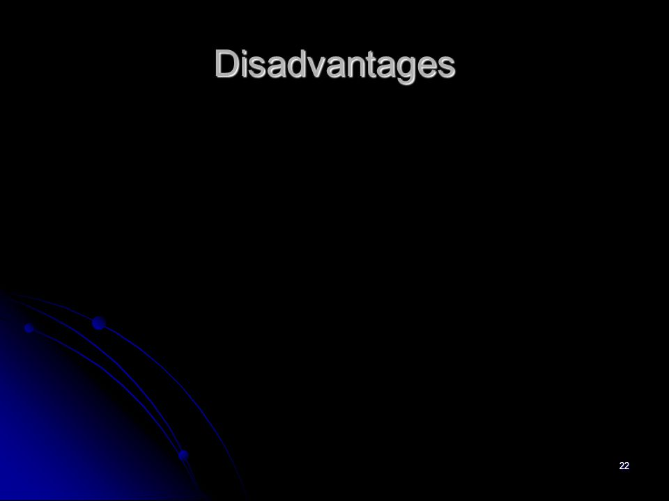 22 Disadvantages