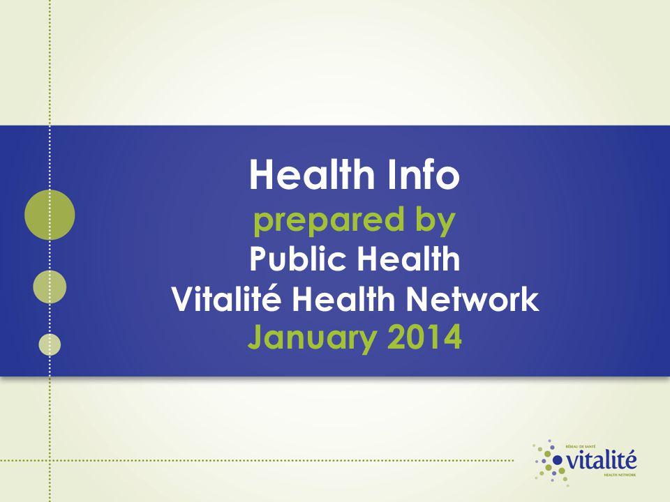 Health Info prepared by Public Health Vitalité Health Network January 2014