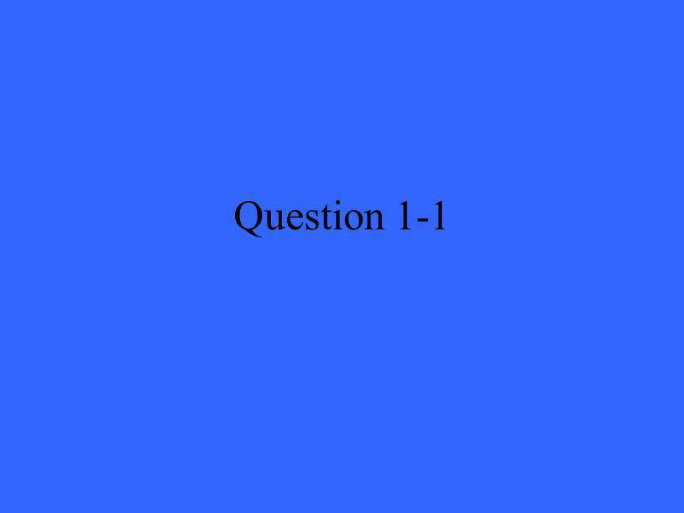 Question 1-1