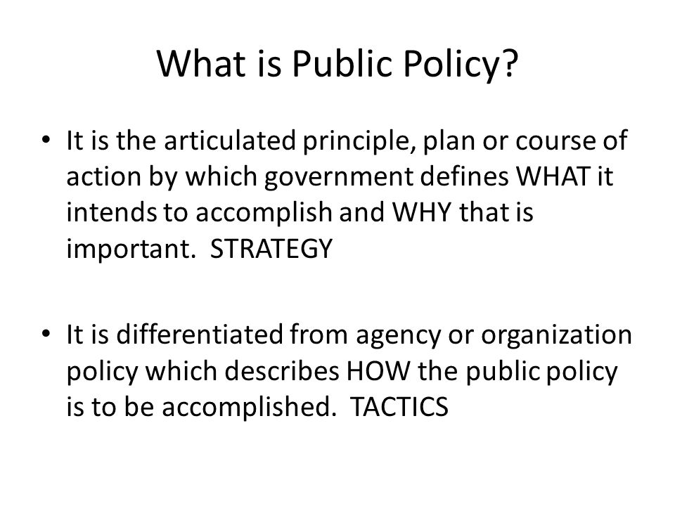 What is Public Policy.