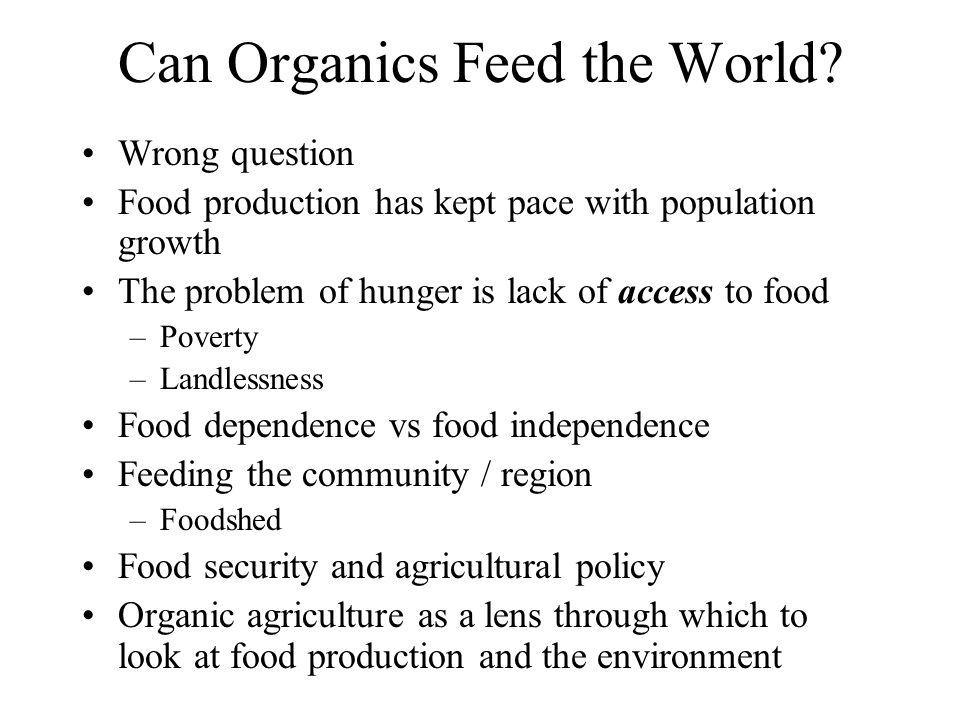 Can Organics Feed the World.