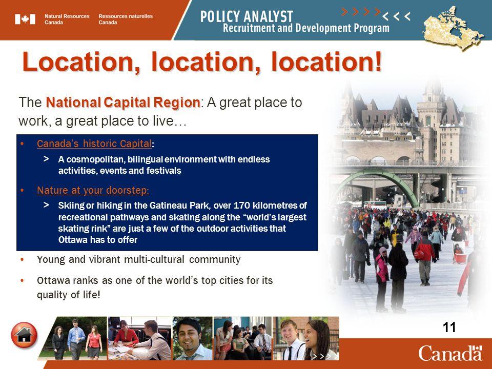 National Capital Region The National Capital Region: A great place to work, a great place to live… Canada's historic Capital:Canada's historic Capital