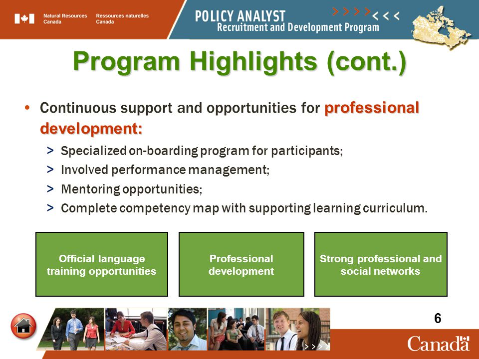 Program Highlights (cont.) professional development:Continuous support and opportunities for professional development: > Specialized on-boarding progr