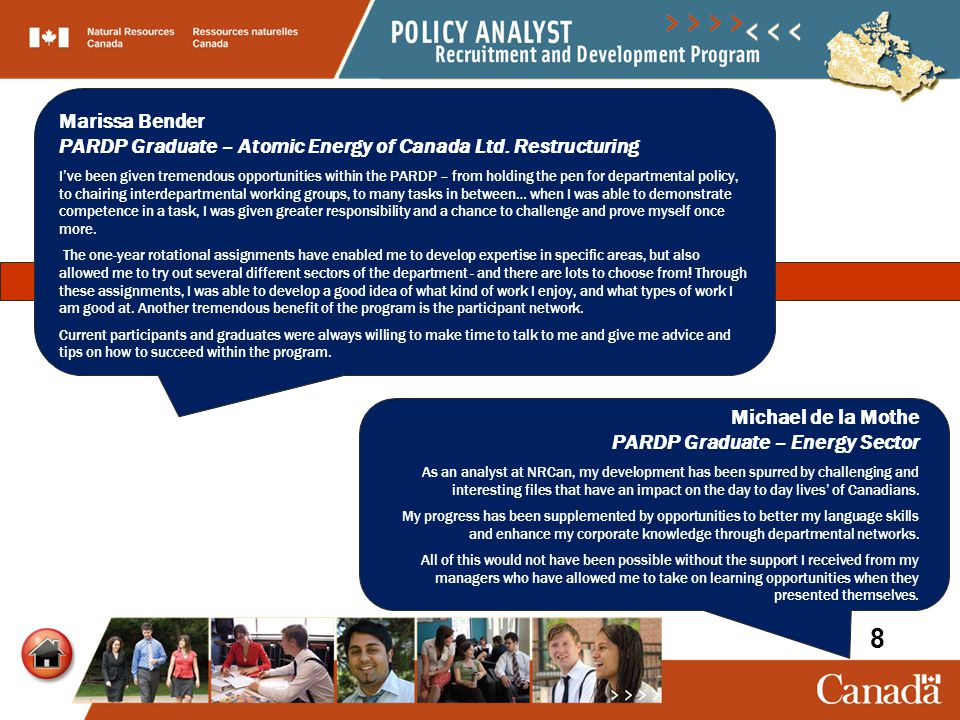As a manager, the Policy Analyst Recruitment and Development Program (PARDP) is one of my key sources to find talented policy analysts and economists.