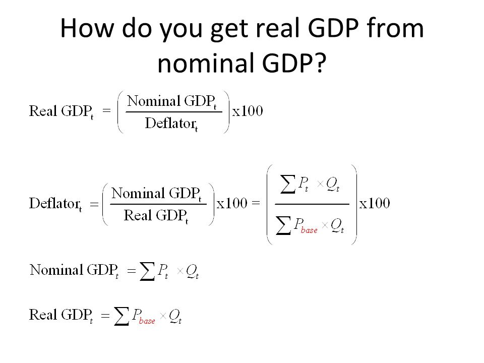 How do you get real GDP from nominal GDP?