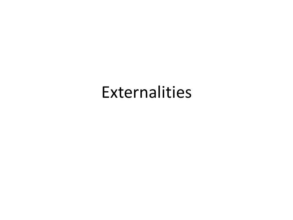 Externalities