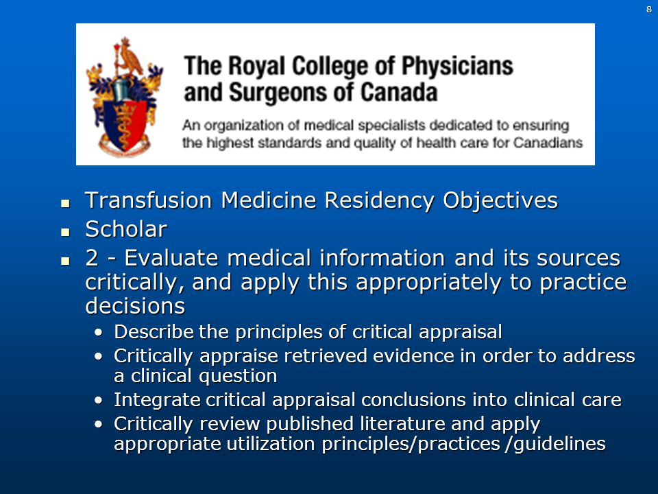 9 Purpose of TMR Journal Club 1.To present a recent article in the transfusion literature 2.