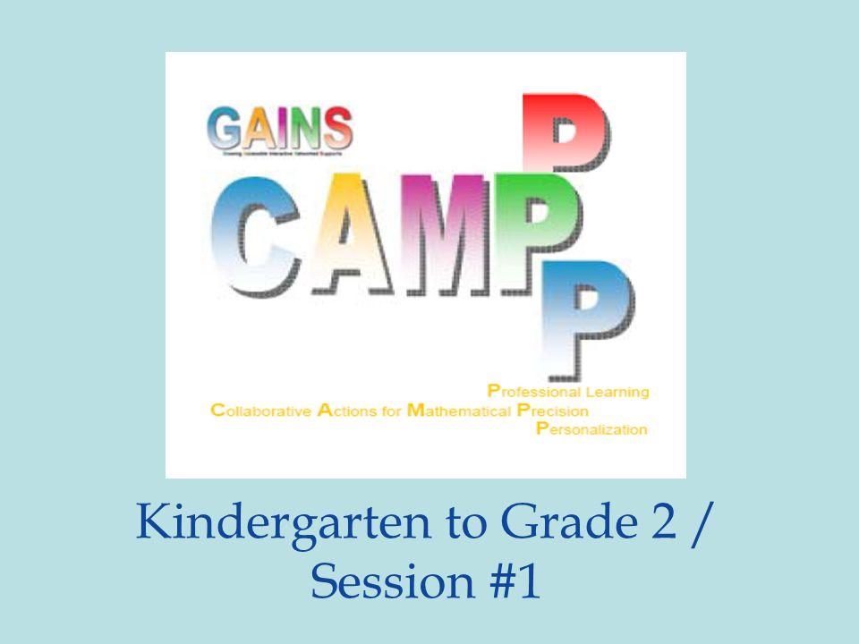Kindergarten to Grade 2 / Session #1