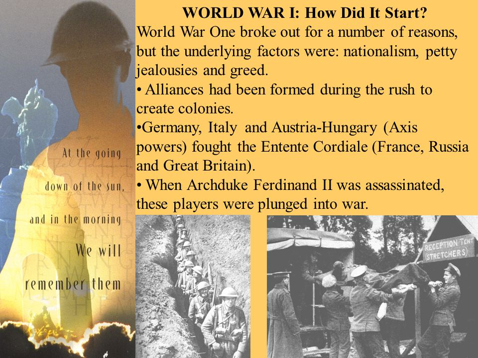 WORLD WAR I: How Did It Start.