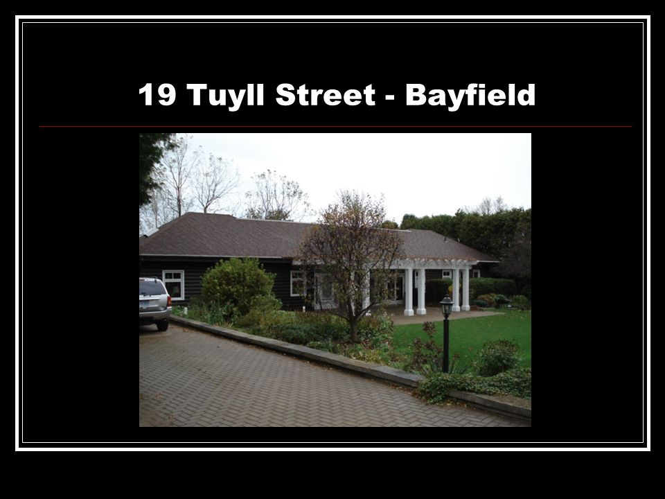 13 Victoria Place – Bayfield ( This would be the before photograph July 27 1995 )
