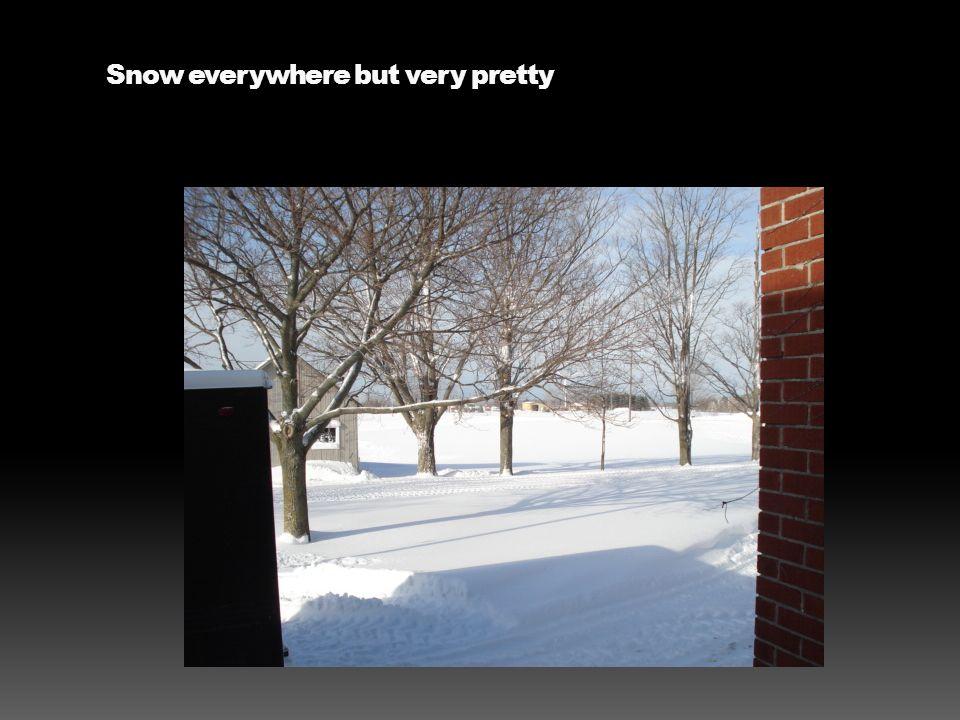 Snow everywhere but very pretty